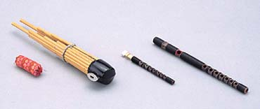 雅楽(左方楽用管楽器)セット