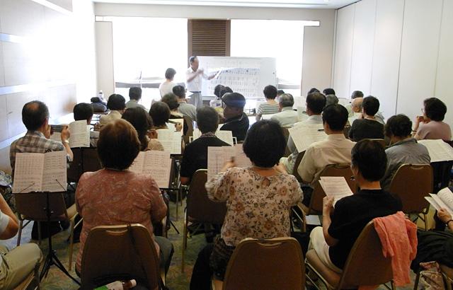 関西ハーモニカ連盟ハーモニカ合宿交流会の様子