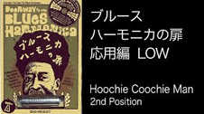 "「ブルースハーモニカの扉」""応用編"" Sweet Hoochie Coochie Man Low D (2nd Position)"