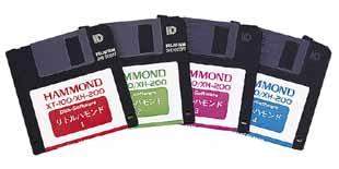 XT-100/XH-200用データディスク リトルハモンド1〜4